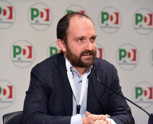 Matteo Orfini nella sede del Partito Democratico